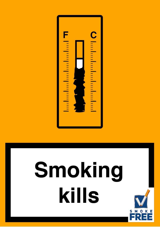 piktogramm Zigarette ist Thermometer