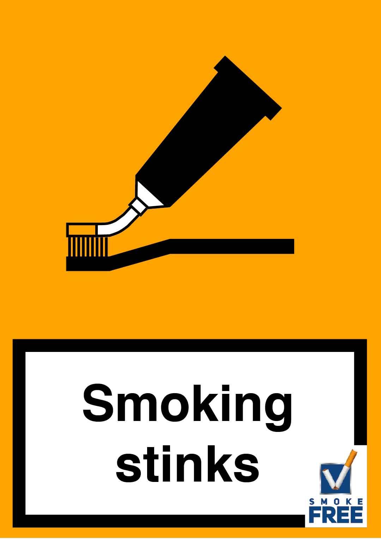 piktogramm rauchen stinkt im Mund zigarette ist Zahnpasta