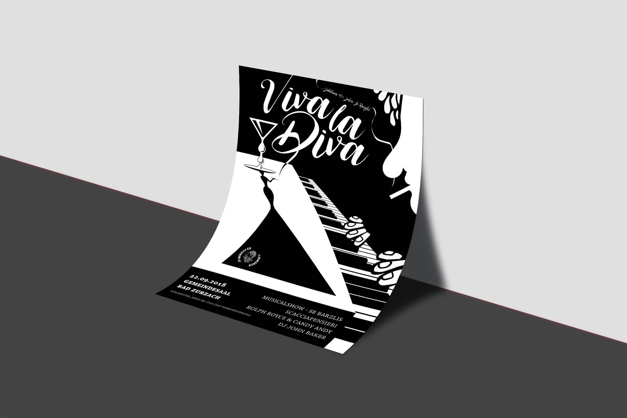 schwarz weiss jazz flyer
