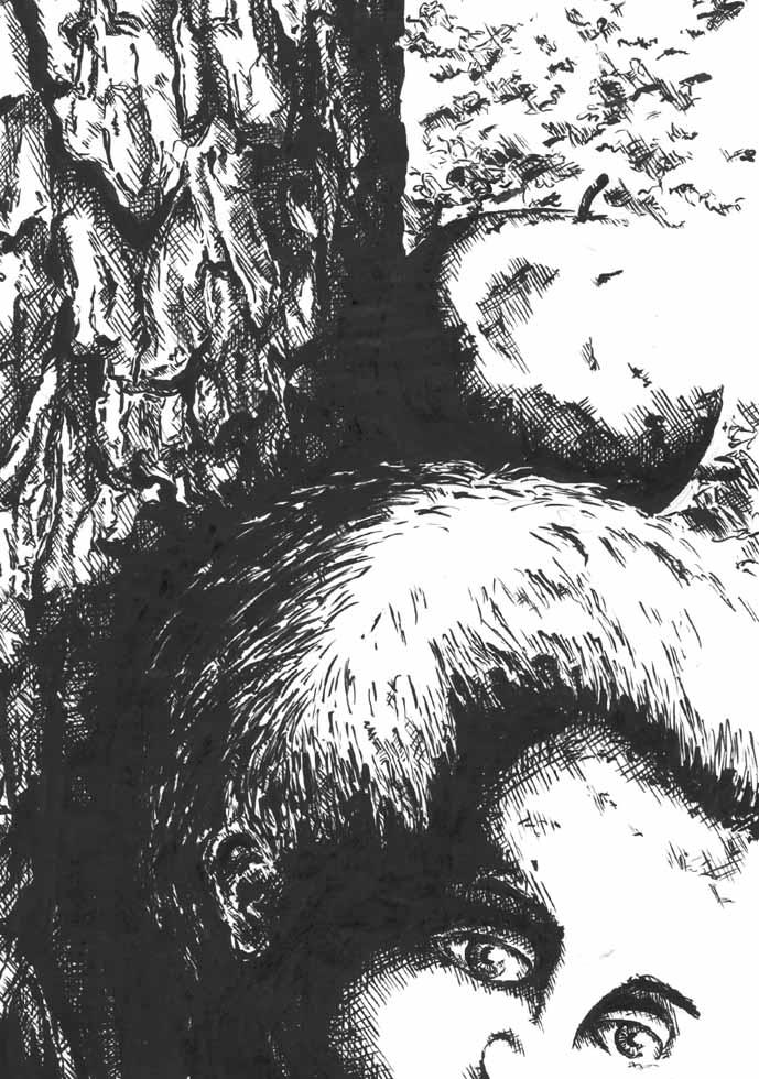 Illustration Wilhelm Tell und der Apfelschuss mit Walter