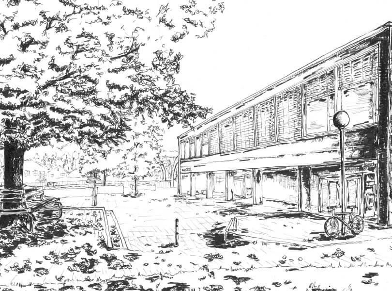 schwarz weiss zeichnung Tiergarten Bad Zurzach