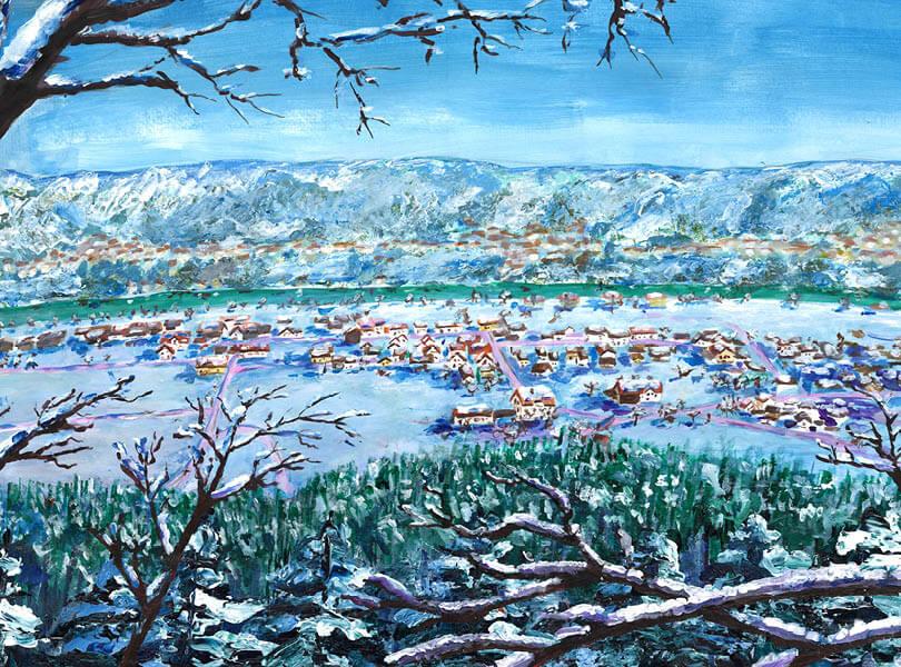 Acryl Malerei panorama Full Zurzibiet