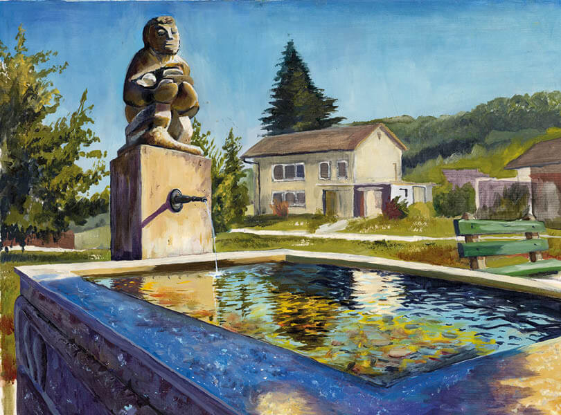 Öl Malerei Full Statue