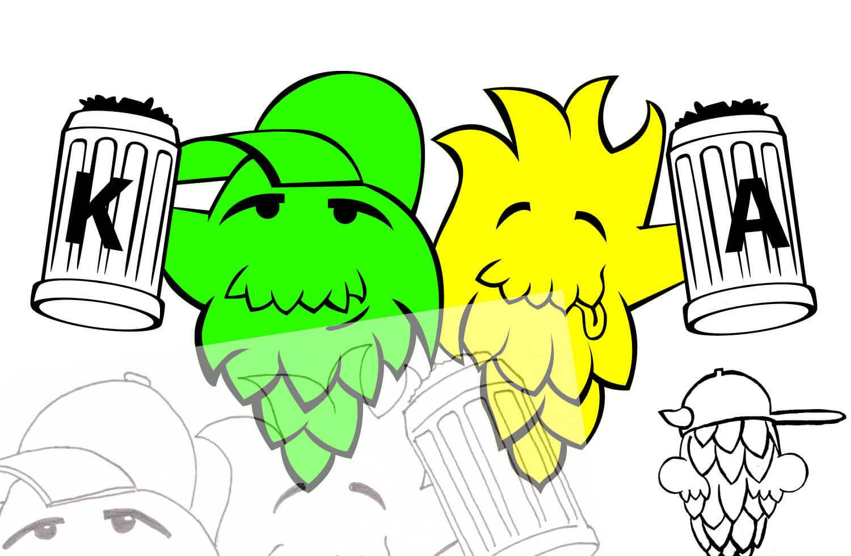 Skizzieren Bleistift Super Brew Bros logo